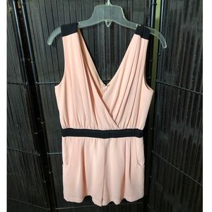 Pink and black romper size L from Forever 21